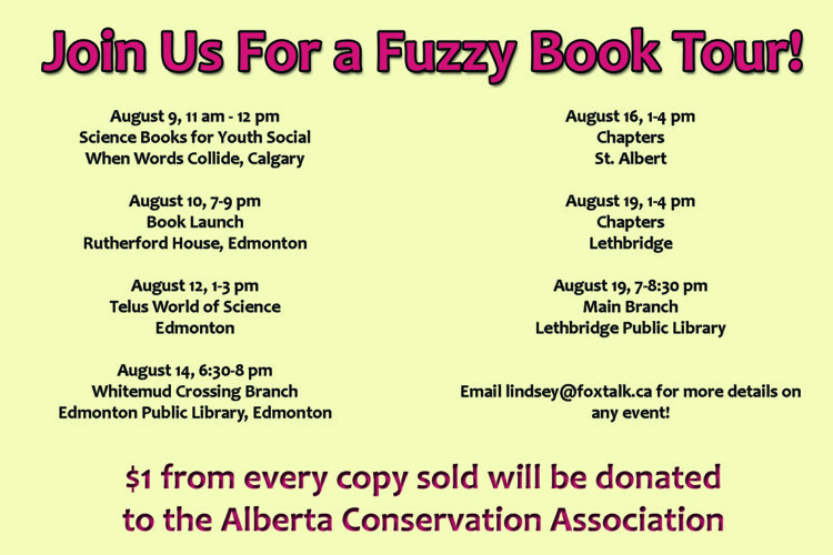 Fuzzy Forensics book tour dates