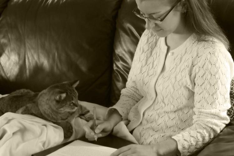 Lindsey and Sasquatch writing