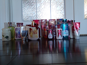 My Bath and Body Works stockpile - because a zombie apocalypse is no reason not to smell nice.