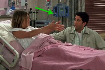 Ross and Rachel in hospital