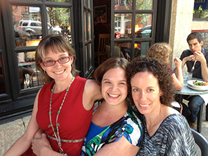 The Sisters of the Traveling Chocolate - Julie-Ann, Kelsey, and Jill