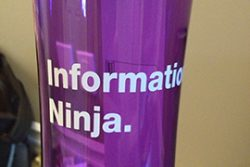 Information Ninja water bottle