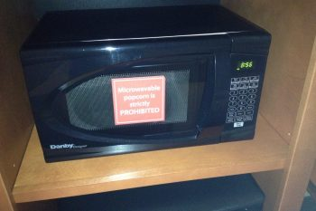 microwave popcorn banned