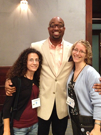 Ishta and me with Newbery-winning author Kwame Alexander