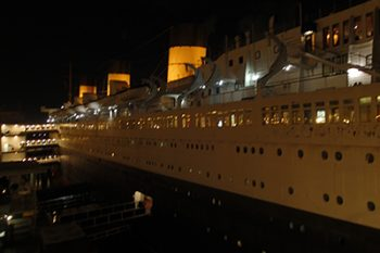 Queen Mary at night