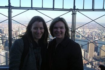 Lindsey at the Empire State Building