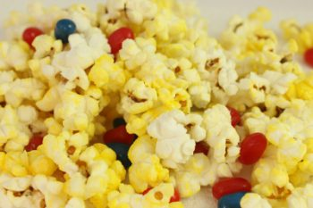 popcorn and jelly beans