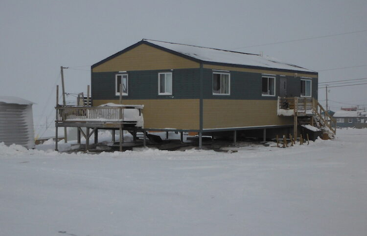 elevated house in the arctic