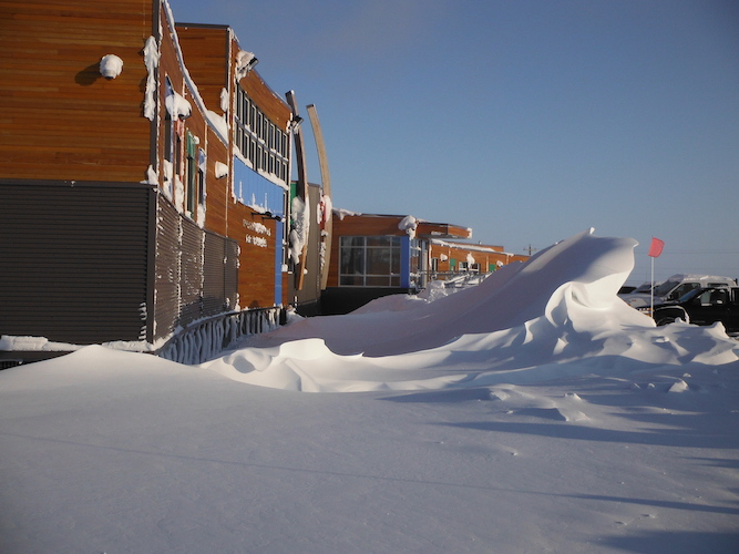snow drift in the arctic