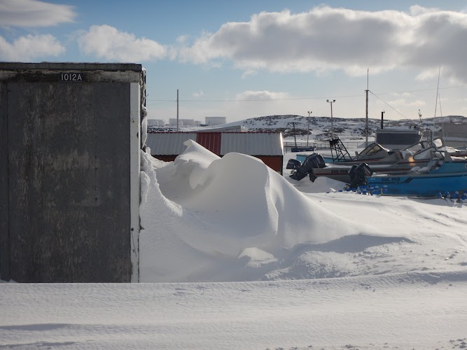 snow drift in the arctic