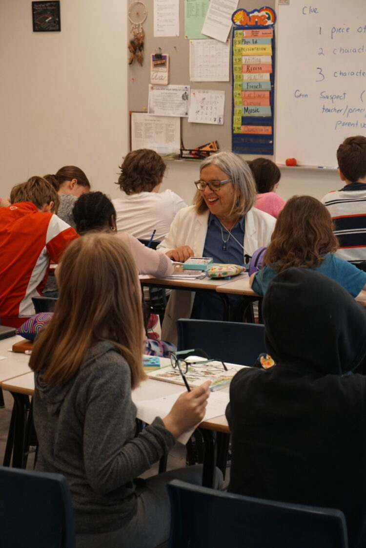 Sylvia McNicholl teaches a writing workshop