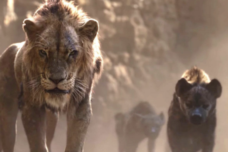 Scar and the hyaenas (Lion King 2019)