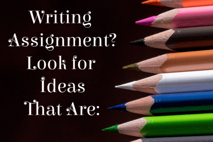 Ideas for Writing Assignments