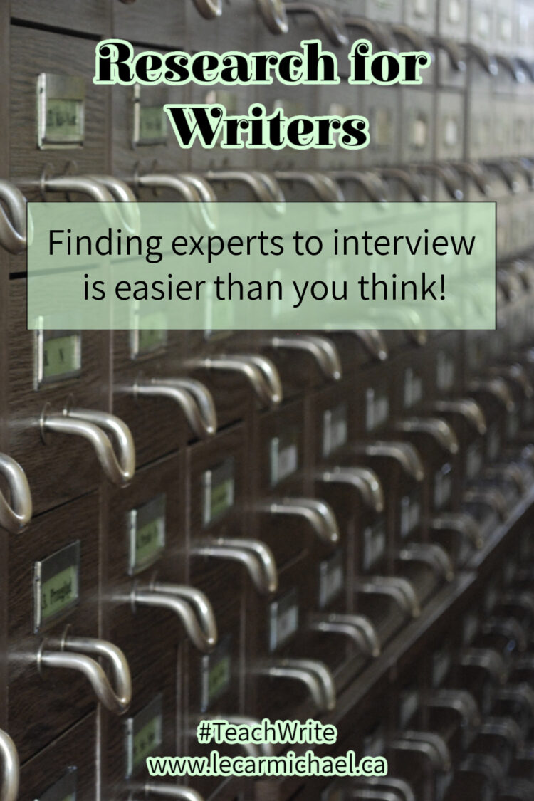 finding experts to interview is easy