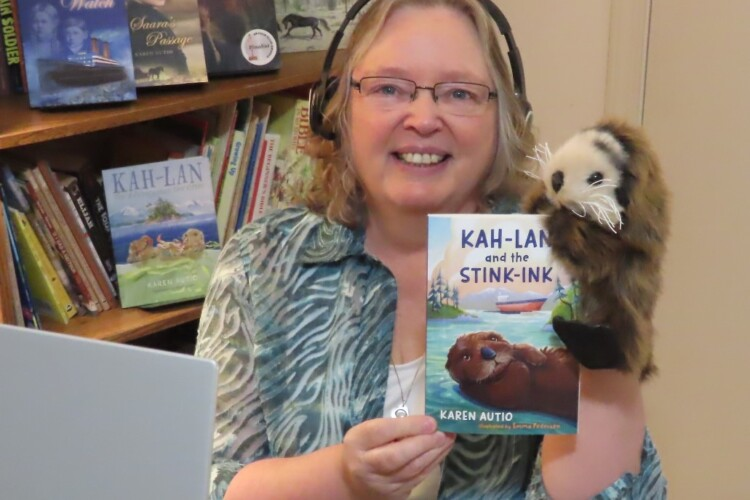 Karen Autio's virtual book launch for Kah-Lan and the Stink-Ink