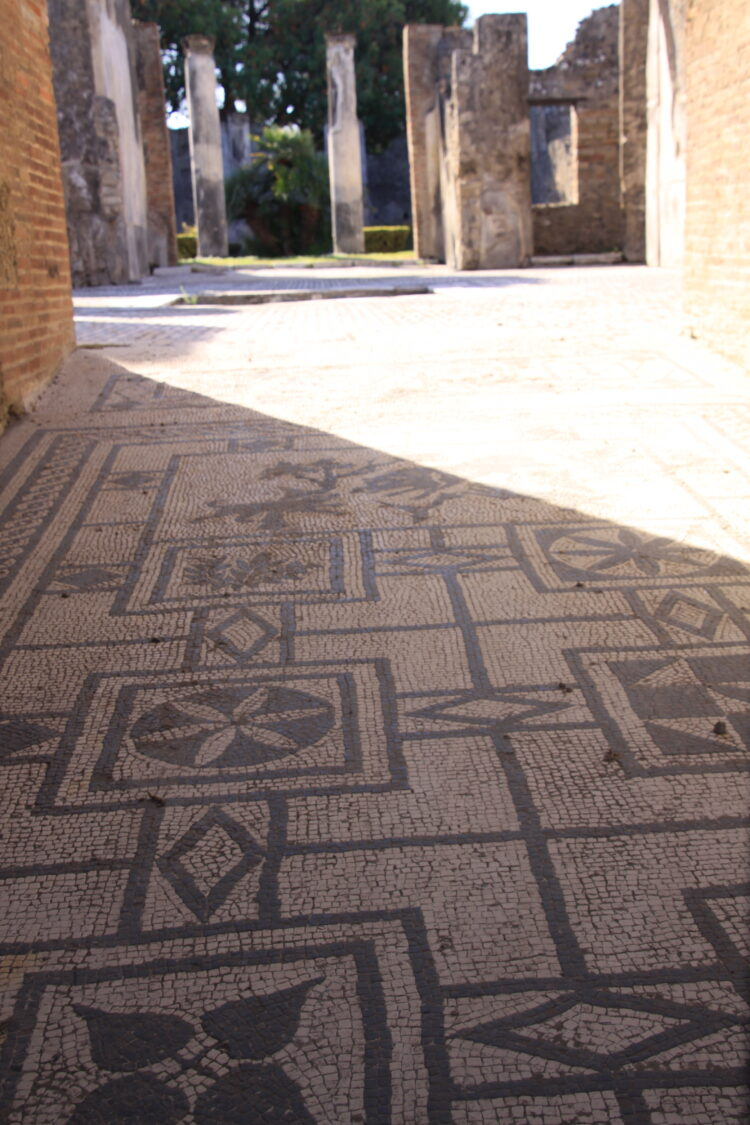 Mosaic tiled floor in Pompeii