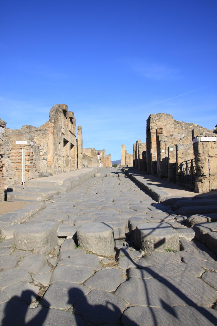 Empty streets of Pompeii