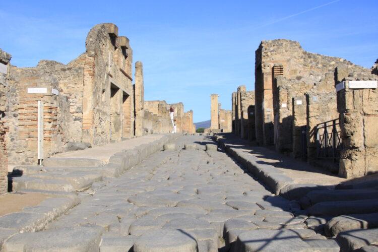 Empty streets of Pompeii