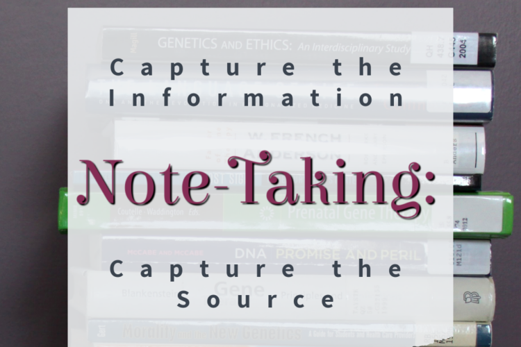 Note-Taking tips for writers